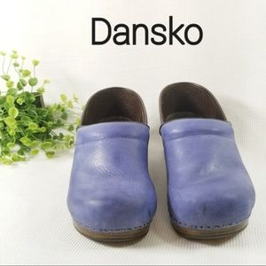 Dansko Size 42 Sky Blue Leather Clog Shoes 3203